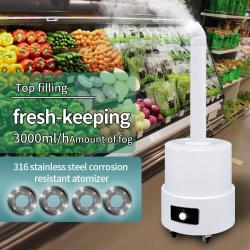 Industrial ultrasonic humidifier fog vegetable and fruit preservation stainless steel atomizer mist disinfection maker